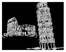 Coliseum et Tour de pise - Italie